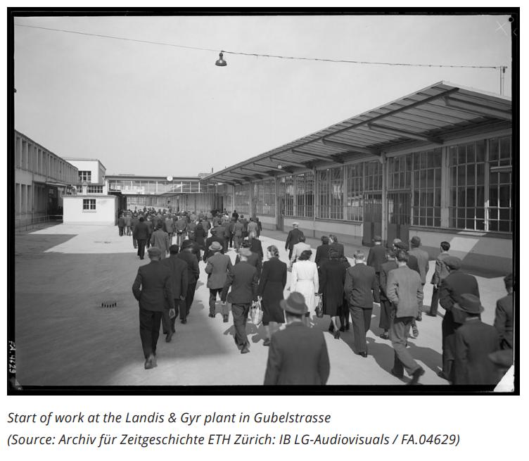 Start of work at the Landis+Gyr plant in Gubelstrasse